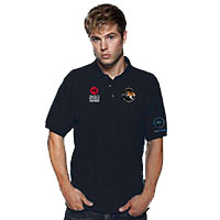Anagi embroidered polo shirts for work or leisure